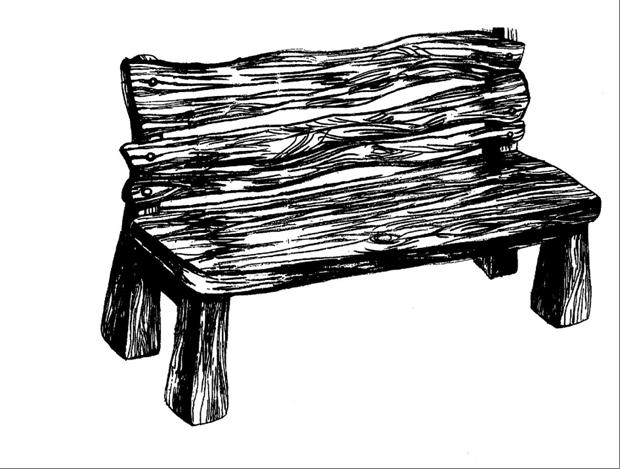эскизы скамеек: